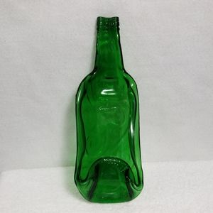 Green Melted Wine Bottle Cheese Platter